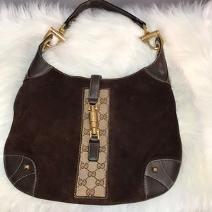 Authentic Gucci leather and suade hobo bag